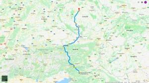 Cesta z Lublaně do Prahy