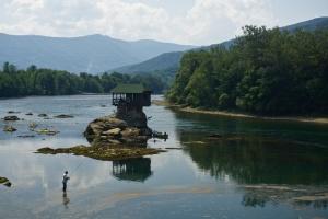Dům na řece Drině, Srbsko