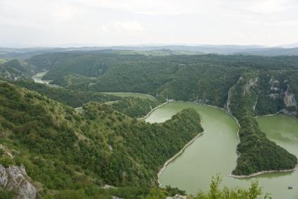 Meandrující řeka Uvac, Srbsko