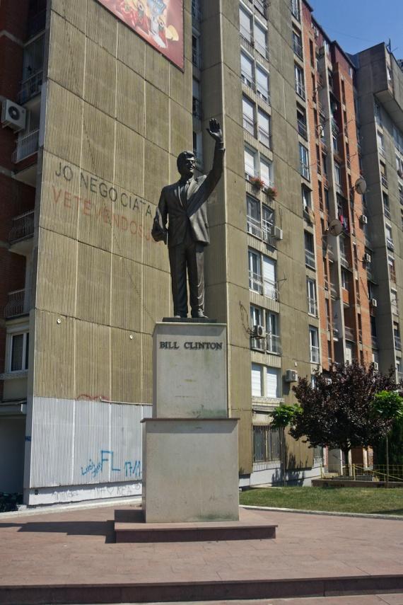 Clintonova socha, Prizren, Kosovo