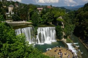 Vodopád v Jajce, Bosna a Hercegovina