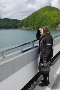Na hrázi, Solinské jezero, Polsko