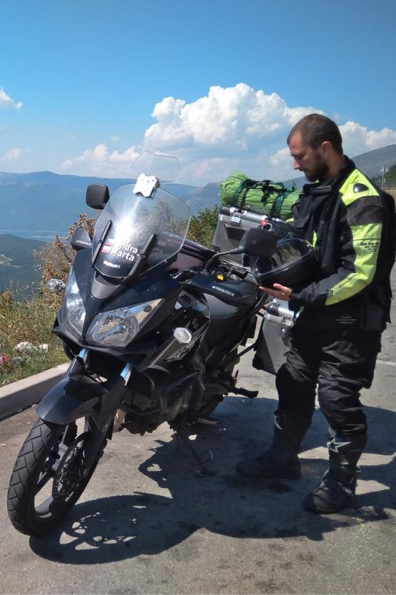 Přestávka na cestě v Bosně