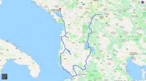 Cesta přes Makedonii a Albánii