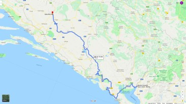 Cesta z Černé Hory do Mostaru
