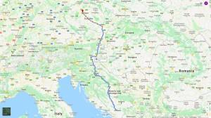 Cesta z Mostaru do Prahy