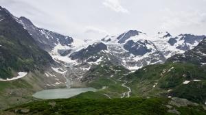 Susten Pass, pohled na ledovec Steingletscher