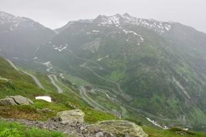 Grimsel Pass za deště