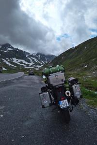 Fluela Pass a naše motorka
