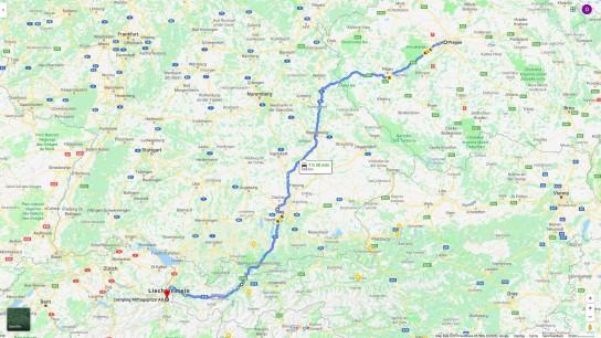 Z Prahy do Lichtenštejnska