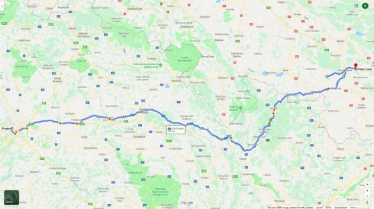 Cesta domů: Moszna-Praha