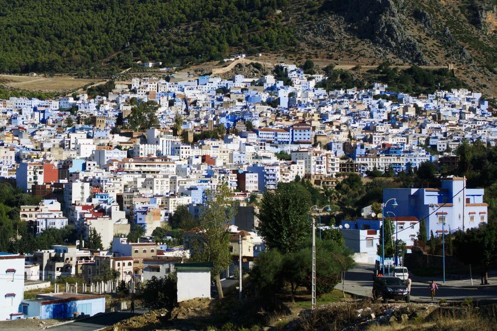 Pohled na Modré město