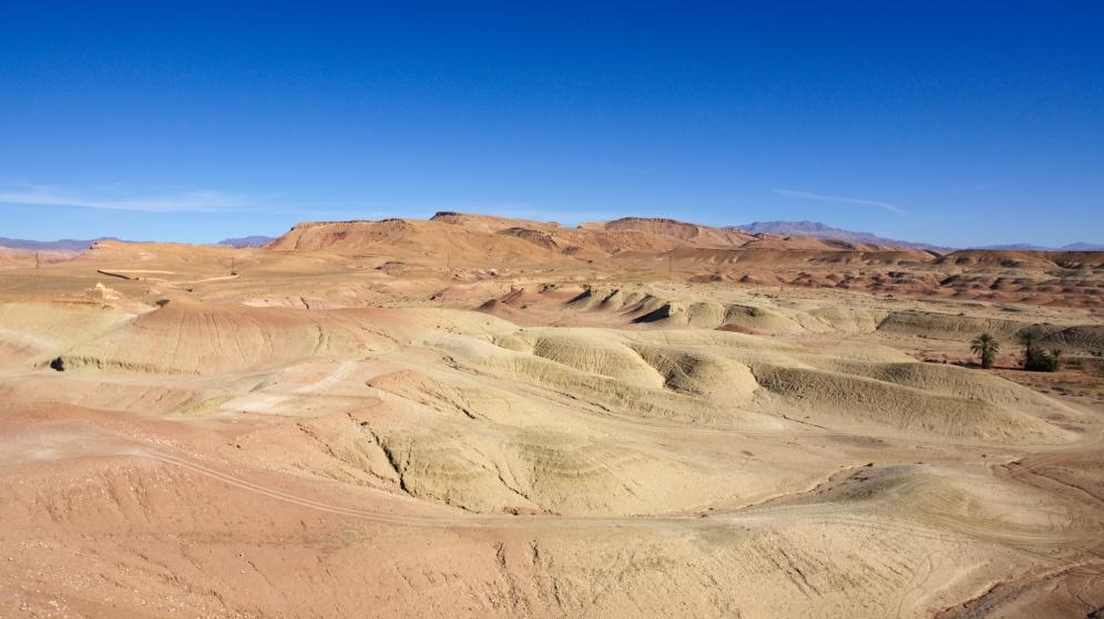 Malebná krajina kolem Ait Ben Haddou