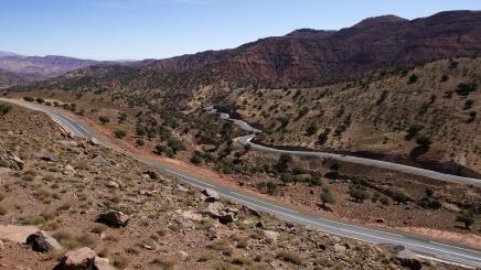 Cesta do Marrákeše - pohled ze silnice N9
