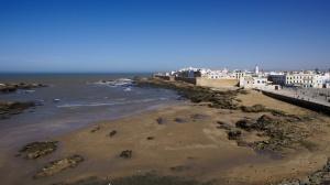 Pohled na městské hradby, Essaouria