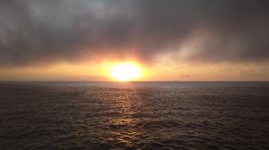 Východ slunce na cestě do Maroka